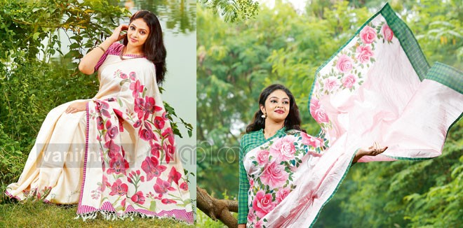 Fabric Painting in Silk Sarees