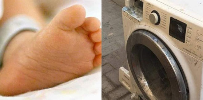 Image result for boy trapped in washing machine