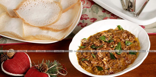 Aval-appam-+naadan-beef-curry