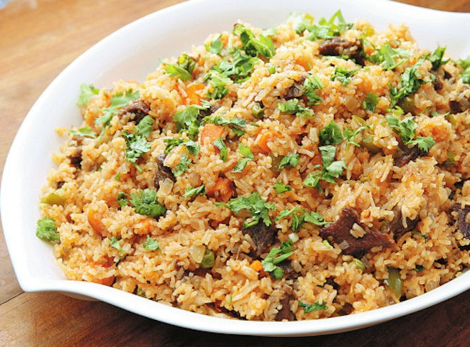 beef and vegetable rice