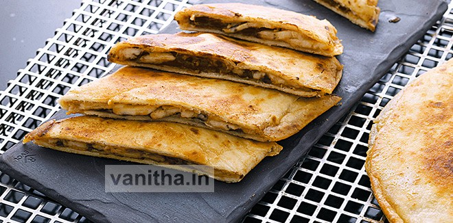 Nutty Fruity Fried Chapati Recipe