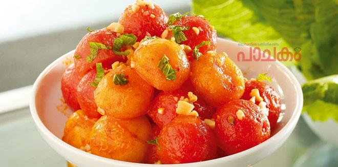 Melon-ball-with-thai-dressing
