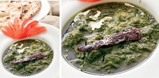 Mashroom palak Curry