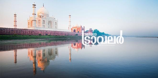 Taj Mahal River Sunrise Agra Morning