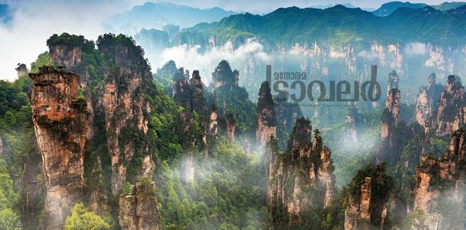 Avatar mountains of Zhangjiajie - China